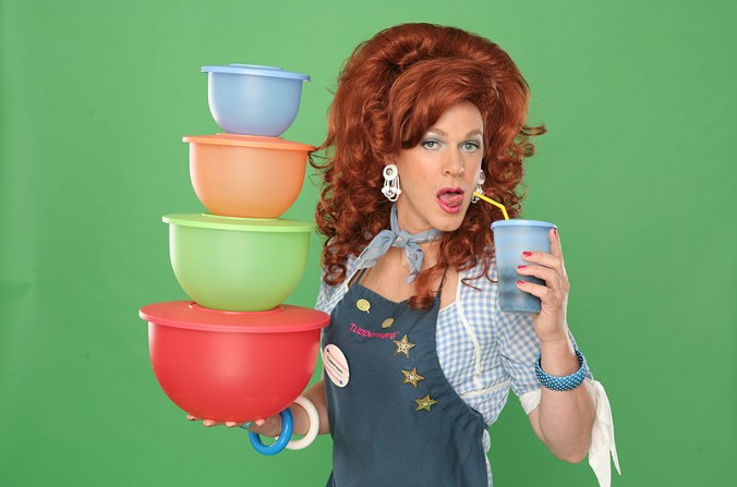 Dixie Longate of Dixe's Tupperware Party.
