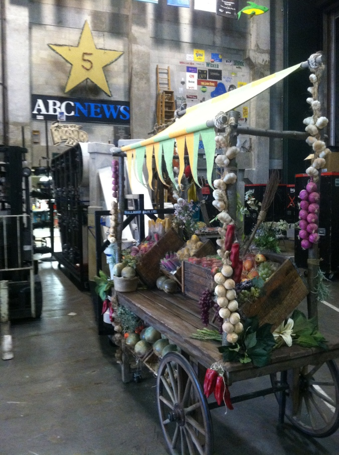 A vegetable cart for the tour of Cinderella.