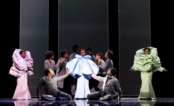 Long's designs for Dreamgirls exemplify his unique style that blends theatricality and haute couture.
