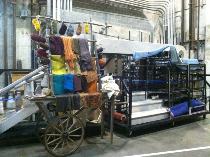 Set pieces and props for the tour of Cinderella.