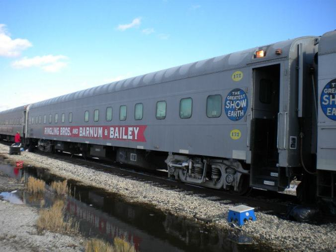 Ringling Bros. and Barnum & Bailey Circus train.