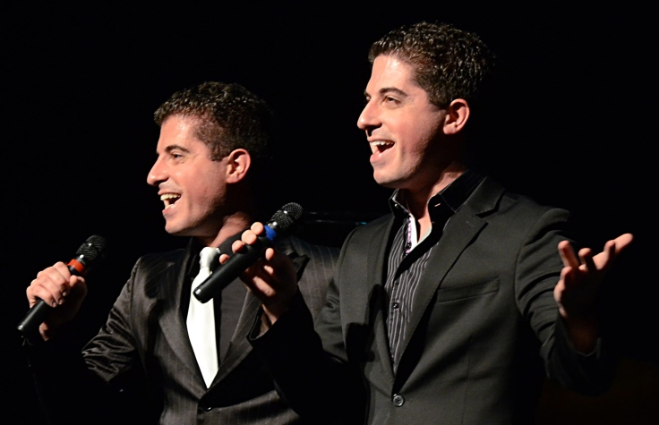 Singers, entertainers, recording artists and twins Will and Anthony Nunziata. (Photo by Andrew Werner.)