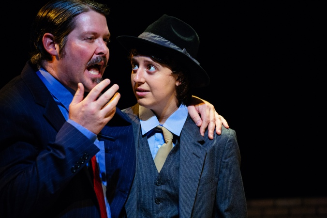 Chris Holcom as Orsino and and Maggie Mularz (Viola, as Cesario). Photo by Crawford Long.