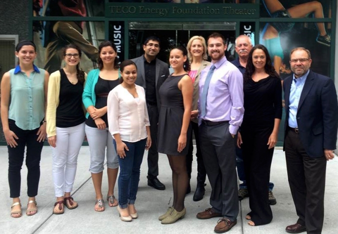 USF sustainability team with Lorrin