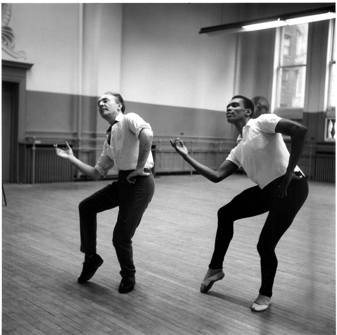 George Balanchine and Arthur Mitchell
