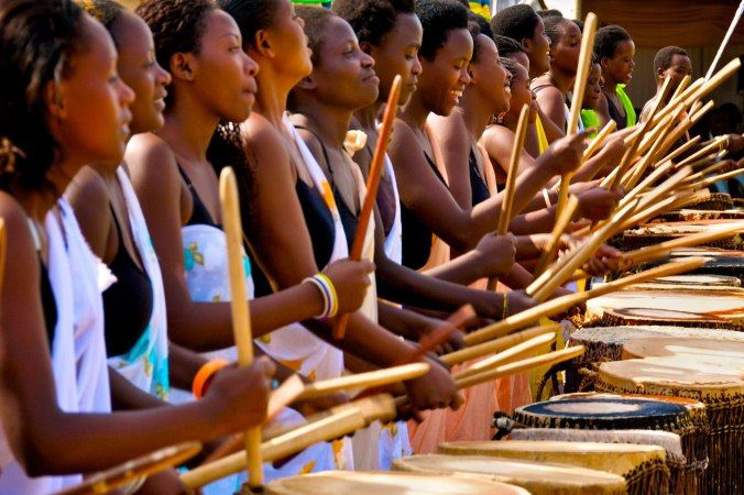 women drum polyrhythm