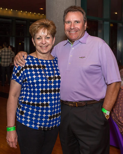 Julie Britton with her husband Charlie at Best of Tampa Bay 2016.