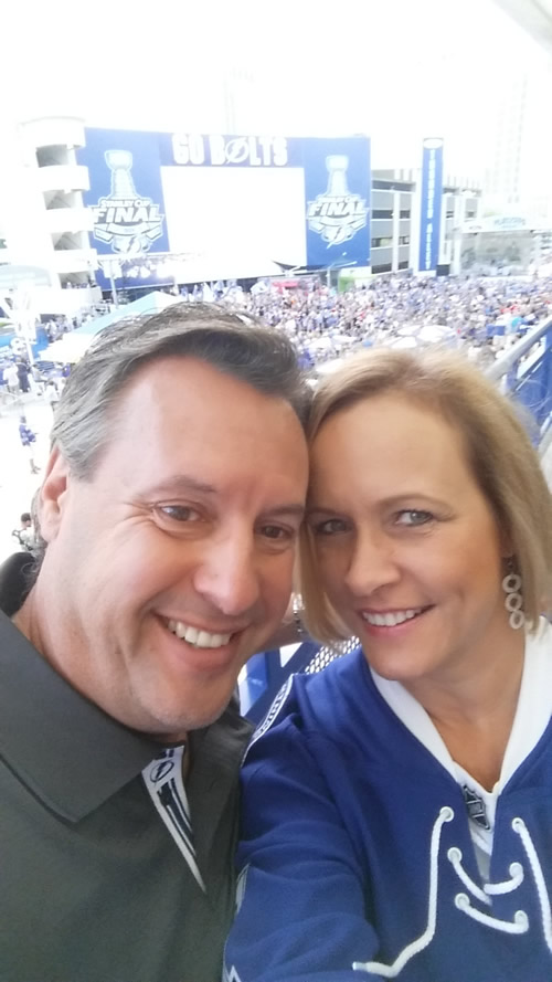 Sharon serves dual roles as Straz Center Director of Special Events and rabid Bolts fan.