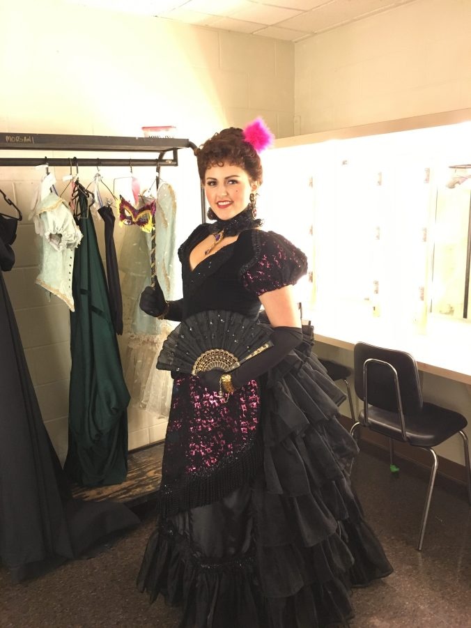 Nicole, a trained singer, performs sometimes with Opera Tampa. Here she appears as a gypsy from La Traviata.