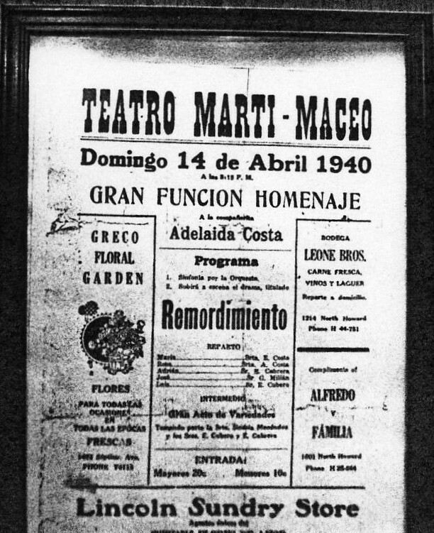 Martí-Maceo Theater Circular 1940 copy