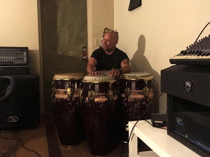 gumbi at conga drums_smile