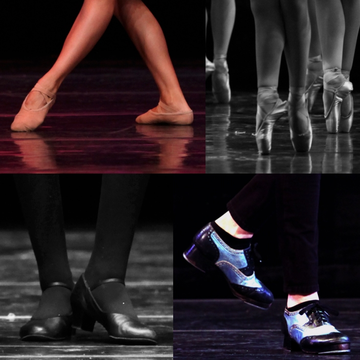 dance shoe collage