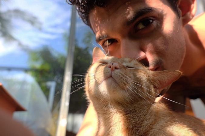 Renan and cat