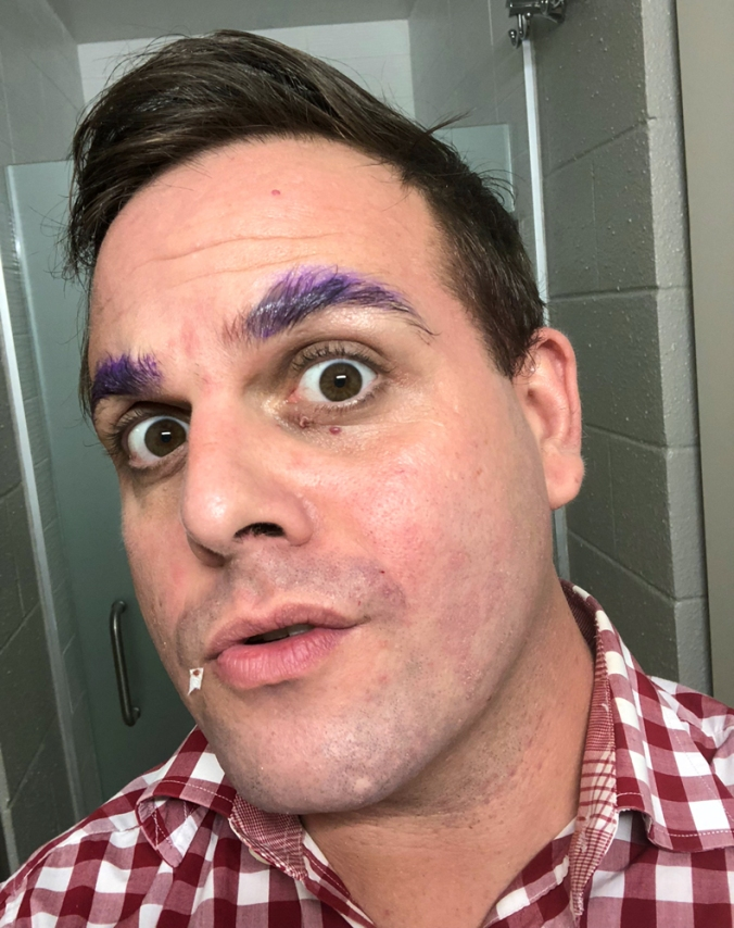 preshow shave & eyebrows