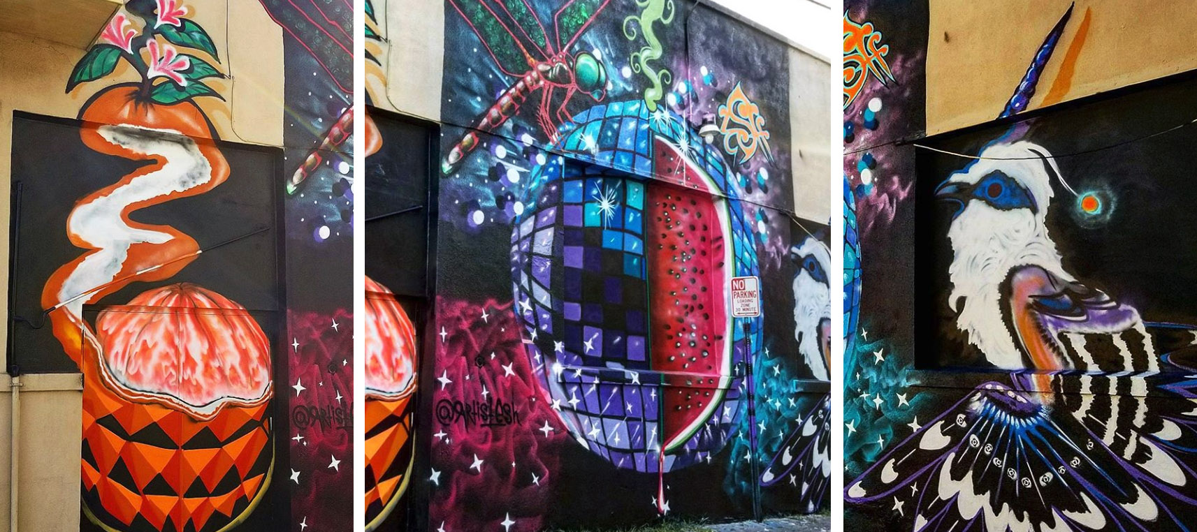 disco melon ball collage