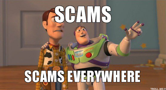 Scams everywhere